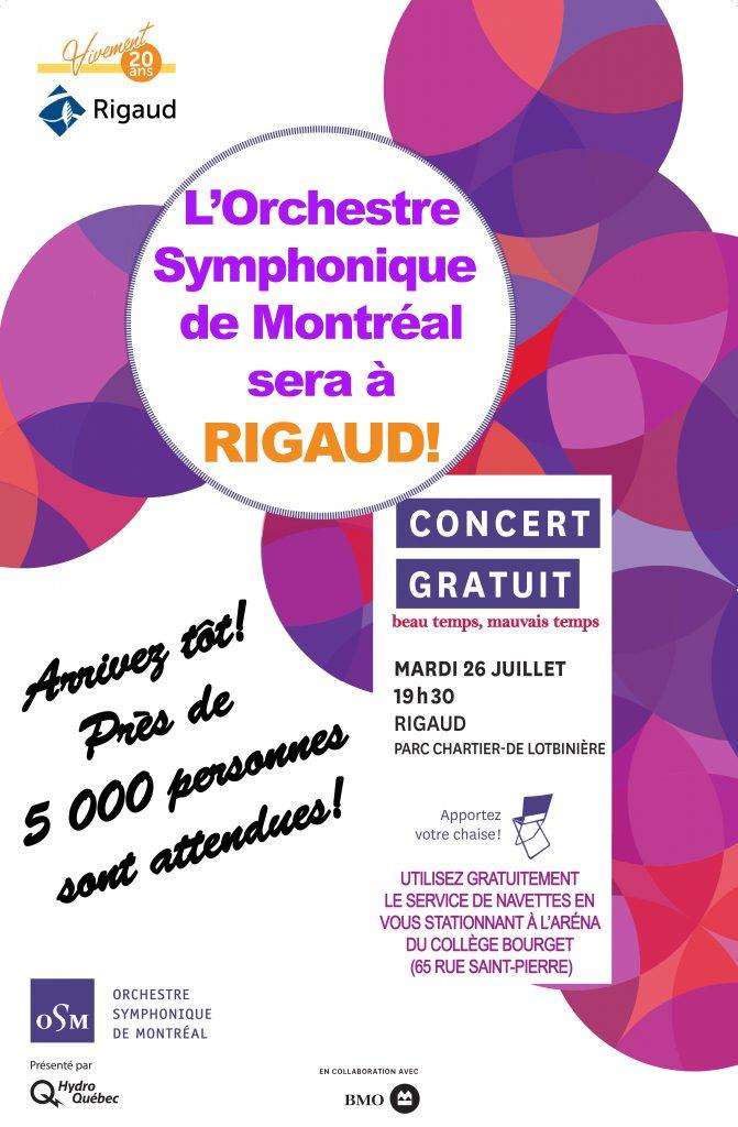 Venez au concert gratuit de l'Orchestre Symphonique de Montréal!