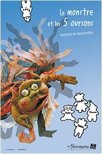 Conte d'Halloween pour les enfants: Le monstre et les 5 oursons