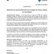 Résolution de contrôle intérimaire pour protéger les milieux naturels du mont Rigaud