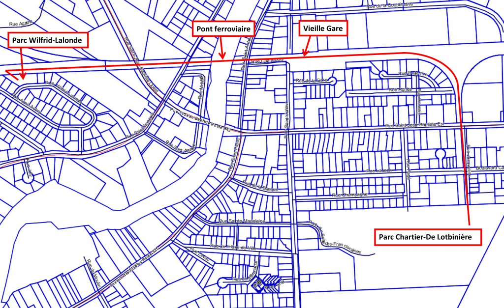 Plan Piste Rigaud Cyclable Phase 1