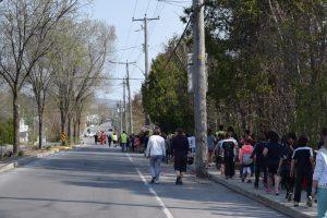Près de 450 marcheurs étaient présents à cette 1ere édition de la Randonnée du maire