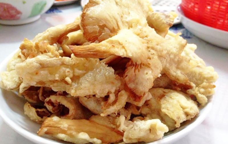 tempura pleurotes roses