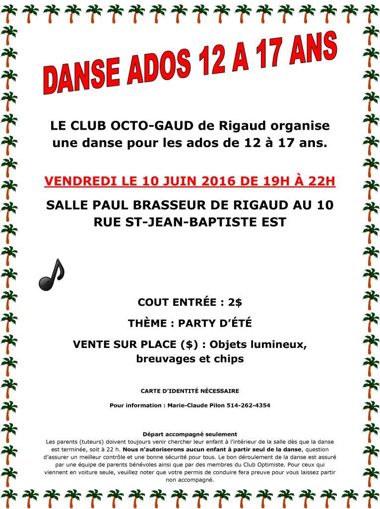 DANCE ADOS 12 A 17 ANS AFFICHE