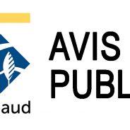 AVIS PUBLIC – Appel d'offres public pour des vidanges de boue de fosses septiques pour les années 2021, 2022, 2023 et 2024