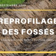 Reprofilage des fossés | du 21 au 25 septembre 2020