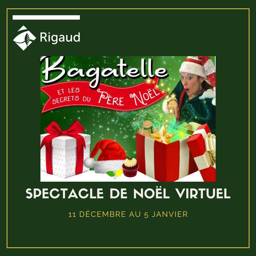 Spectacle de Noël virtuel : Bagatelle et les secrets du Père-Noël | Inscription à partir du 1er décembre 2020