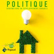 La nouvelle Politique de subventions en développement durable est maintenant disponible!!!